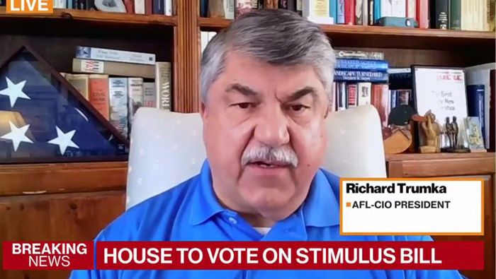 AFL-CIO President Richard Trumka Condemns Slight to Postal Employees in Stimulus Bill